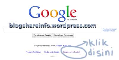 merubah google.co.id menjadi google.com